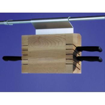 Cepo de madera y aluminio