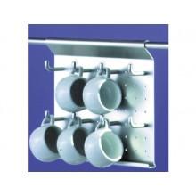 Soporte para tazas en aluminio