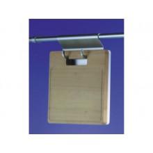 Portatablas con tabla de madera, en aluminio