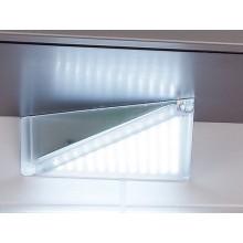 Triángulo en aluminio con 65 puntos de LEDS