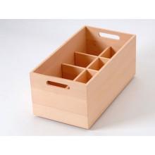 Caja de haya con botellero de 8 divisiones