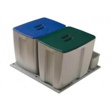 Kit de 2 cubos para gavetero de 600 mm.