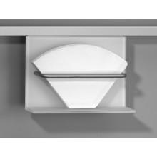 Portafiltros de café de cristal óptico blanco y aluminio