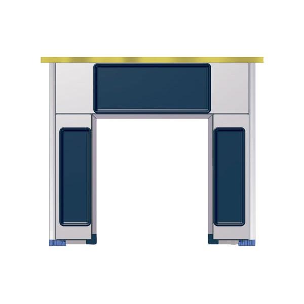 Kit bajo fregadero en aluminio y pl stico parra mueble de for Fregaderos de aluminio