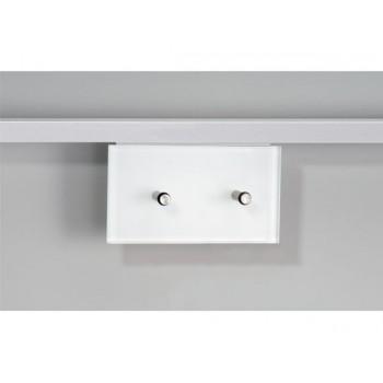 Colgador para 2 piezas en cirstal óptico blanco y aluminio